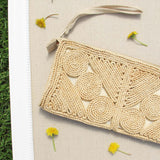 Vintage 60's Woven Clutch: Alternate View #2