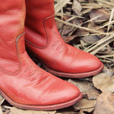 Vintage 70's Sweet Stitch Boots: Alternate View #2