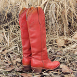 Vintage 70's Sweet Stitch Boots: Alternate View #3
