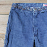 Vintage 70's Braided Jeans: Alternate View #2