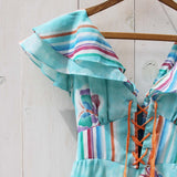 Vintage 70's Mint Butterfly Maxi Dress: Alternate View #3