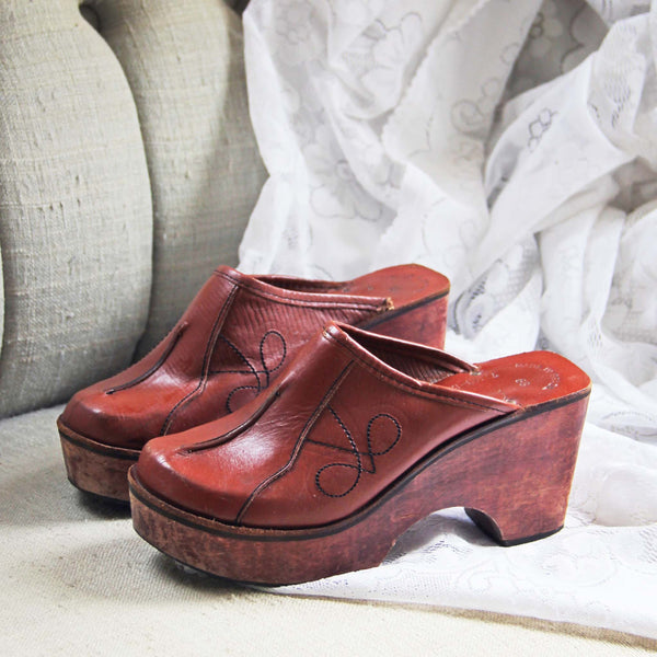 Vintage 70's Sweet Clogs: Featured Product Image
