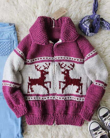 Vintage 70's Cozy Knit Cowichan Sweater