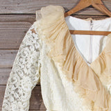 Vintage 70's Lace & Chiffon Dress: Alternate View #2