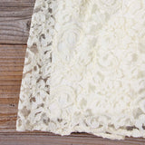 Vintage 70's Lace & Chiffon Dress: Alternate View #3