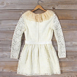 Vintage 70's Lace & Chiffon Dress: Alternate View #4