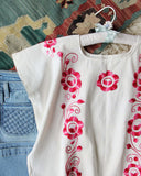 Vintage 70's Mexican Embroidered Top: Alternate View #2