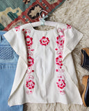 Vintage 70's Mexican Embroidered Top: Alternate View #4