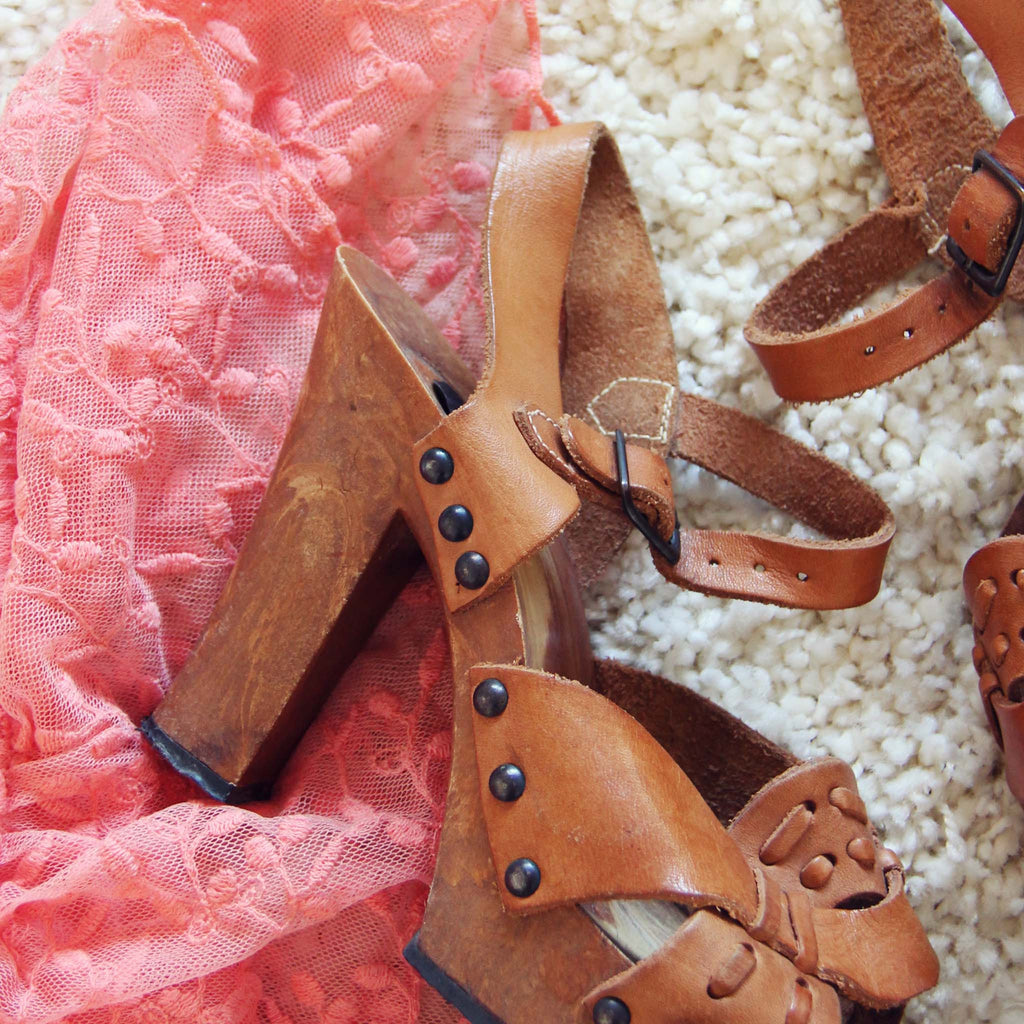 f35fa659ac Vintage 70's Platform Sandals, Sweet Vintage 70's Shoes from Spool ...