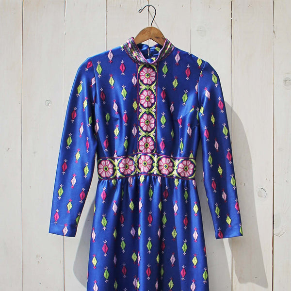 Vintage 70's Gypsy Maxi Dress: Featured Product Image