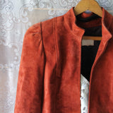 Vintage 70's Rust Suede Jacket: Alternate View #2