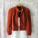 Vintage 70's Rust Suede Jacket: Alternate View #1