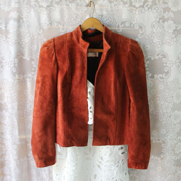 Vintage 70's Rust Suede Jacket: Featured Product Image
