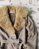 Vintage 70's Shearling & Suede Coat: Alternate View #2