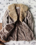 Vintage 70's Shearling & Suede Coat: Alternate View #4