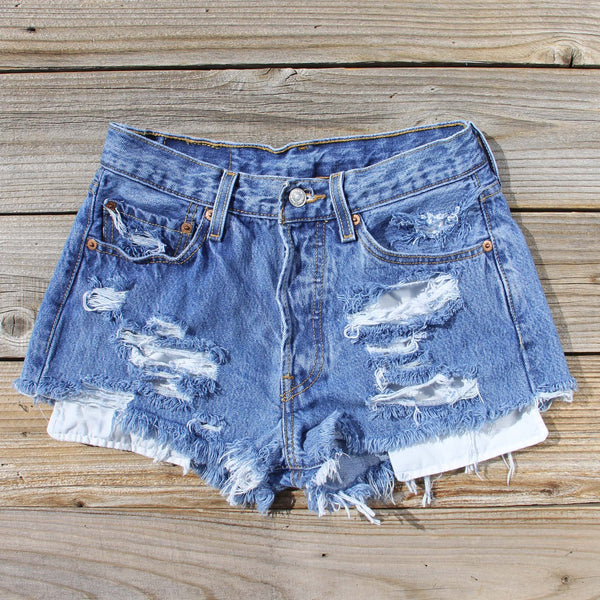 Vintage Distressed Shorts: Featured Product Image