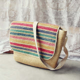 Vintage 70's Stripe Tote: Alternate View #1