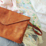 Vintage 70's Suede Clutch: Alternate View #2