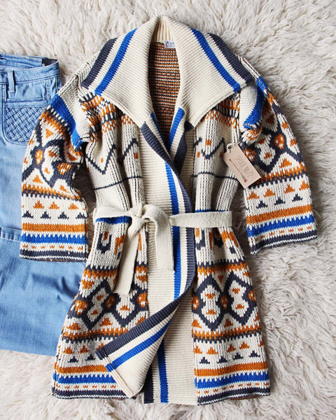 Vintage 70's Native Blanket Sweater: Featured Product Image