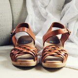 Vintage 70's Woven Sandals: Alternate View #3