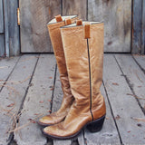 Vintage Taupe Stitch Boots: Alternate View #2