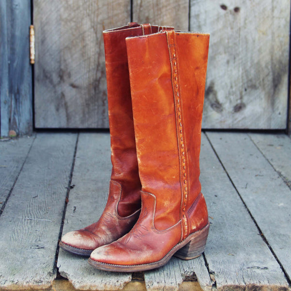 Vintage Stitch Campus Boots: Featured Product Image