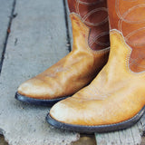 Vintage Caramel Stitch Boots: Alternate View #2