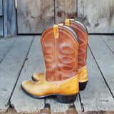 Vintage Caramel Stitch Boots: Alternate View #3