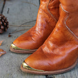 Vintage Caramel Dingo Boots: Alternate View #2