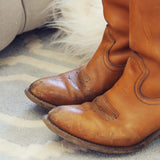 Vintage Honey Cowboy Boots: Alternate View #2