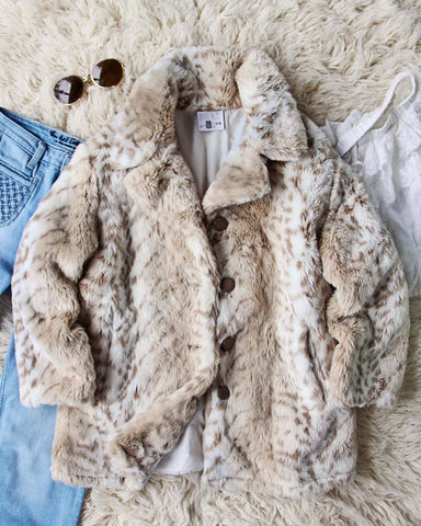 Vintage Cozy Faux Fur Coat