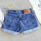 Vintage Cuffed Jean Shorts: Alternate View #3