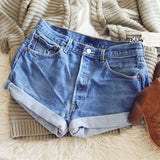 Vintage Cuffed Jean Shorts: Alternate View #2