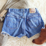 Vintage Cut-Off Jean Shorts: Alternate View #2
