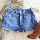 Vintage Cut-Off Jean Shorts: Alternate View #1