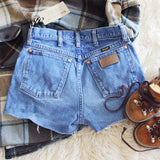 Vintage Cut-Off Wrangler Shorts: Alternate View #2