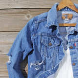 Vintage Distressed Jean Jacket: Alternate View #2
