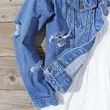 Vintage Distressed Jean Jacket: Alternate View #3