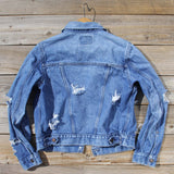 Vintage Distressed Jean Jacket: Alternate View #4