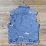 Vintage Distressed Vest: Alternate View #4