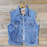 Vintage Distressed Vest: Alternate View #1