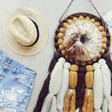 Vintage Feathered Dream Catcher: Alternate View #2