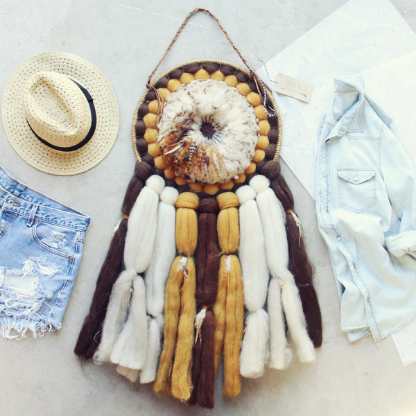 Vintage Feathered Dream Catcher: Featured Product Image