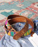 Vintage 70's Tapestry Belt: Alternate View #2