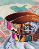 Vintage 70's Tapestry Belt: Alternate View #3
