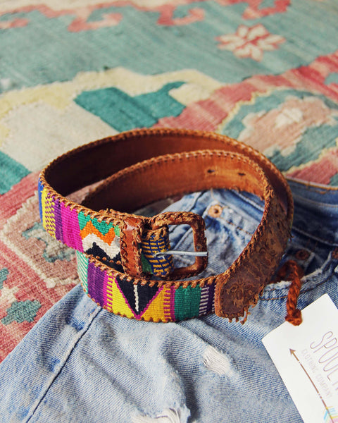 Vintage 70's Tapestry Belt: Featured Product Image