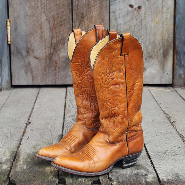 Vintage Falling Leaves Boots: Featured Product Image