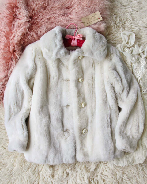 Vintage 60's French Faux Fur Coat: Featured Product Image