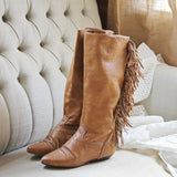 Vintage Fringe Boots: Alternate View #3