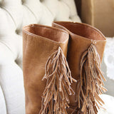 Vintage Fringe Boots: Alternate View #2